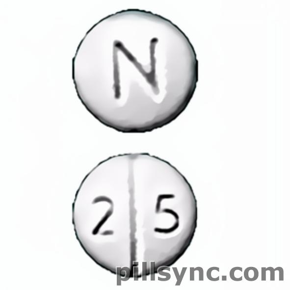 round white N 2 5 score Canada chlorpromazine 25 mg