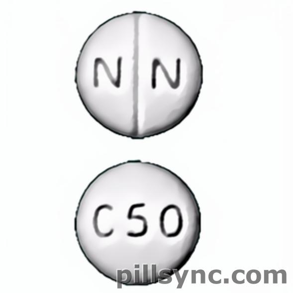 round white N N C50 score Canada chlorpromazine 50 mg