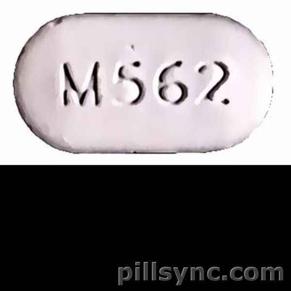 OVAL WHITE M562 oxycodone and acetaminophen oxycodone hydrochloride and acetaminophen tablet
