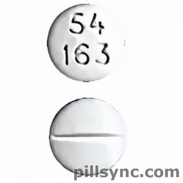 ROUND WHITE 54 163 Meperidine Hydrochloride 100 MG Oral Tablet